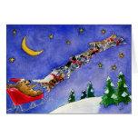Carte de Noël drôle de chats de renne de chien du
