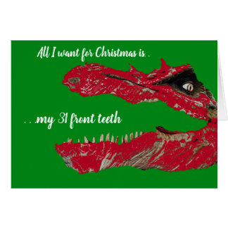 Carte de Noël drôle de dinosaure à personnaliser