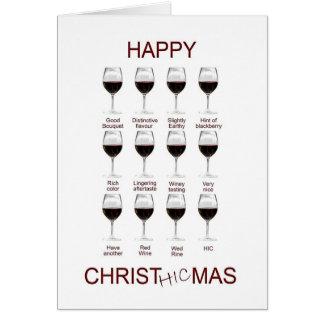 Carte de Noël drôle d'échantillon de vin