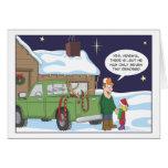 Carte de Noël drôle, humour de chasse de cerfs com