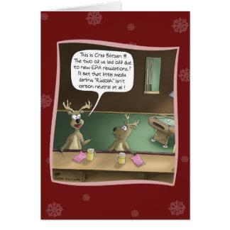 Carte de Noël drôle : Le licenciement