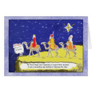 Carte de Noël drôle : Les trois rois