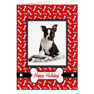 Carte de Noël du chien - vilain ou Nice