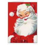Carte de Noël du père noël d'enfants