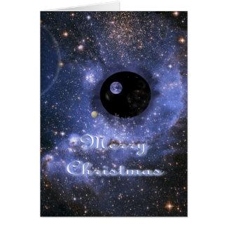 Carte de Noël d'univers