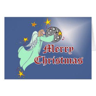 Carte de Noël en acier de casserole