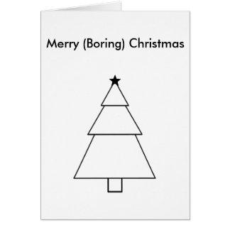 Carte de Noël ennuyeuse drôle