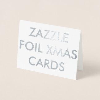 Carte de Noël faite sur commande d'aluminium