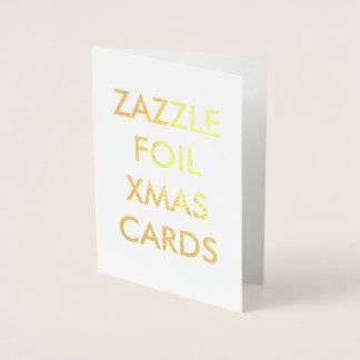 Carte de Noël faite sur commande de feuille d'or