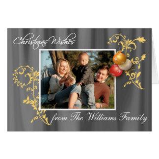 Carte de Noël faite sur commande de photo