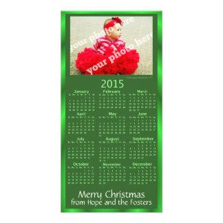 Carte de Noël faite sur commande de photo de Modèle Pour Photocarte