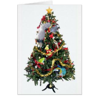 Carte de Noël faite varier le pas de famille