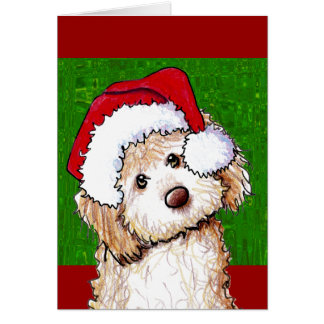 Carte de Noël fantôme de griffonnage de Père Noël