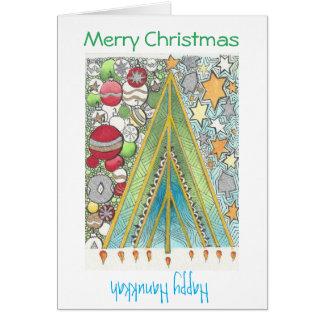 Carte de Noël/Hanoukka (Noël)