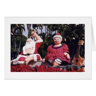 Carte de Noël hawaïenne
