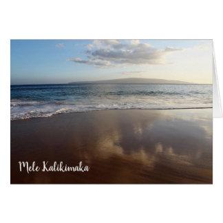 Carte de Noël hawaïenne de belle plage
