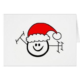 Carte de Noël heureuse de Père Noël de jambon