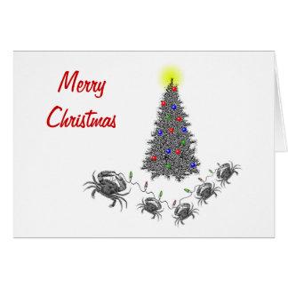 Carte de Noël horizontale de Cancer avec le texte