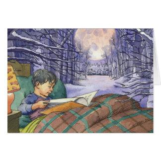 """Carte de Noël """"illuminez nuit"""""""