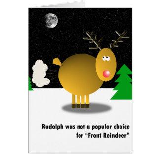 Carte de Noël impopulaire