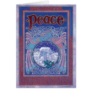 Carte de Noël irlandaise celtique de paix