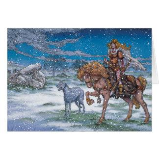 Carte de Noël irlandaise celtique Finnchoem