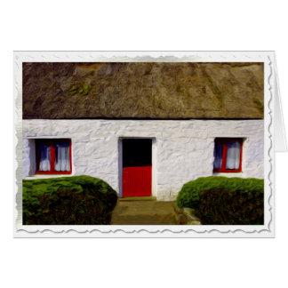 Carte de Noël irlandaise de cottage de bénédiction