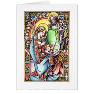 Carte de Noël : La nativité
