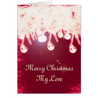 Carte de Noël magique romantique