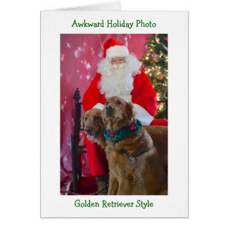 Carte de Noël maladroite de golden retriever