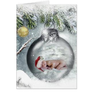Carte de Noël mignonne de bébé