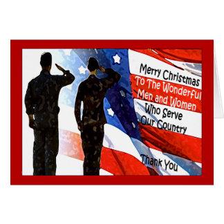 Carte de Noël militaire