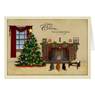 Carte de Noël minuscule de trésors