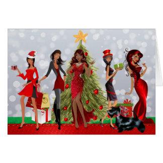 Carte de Noël moderne d'Afro-américain