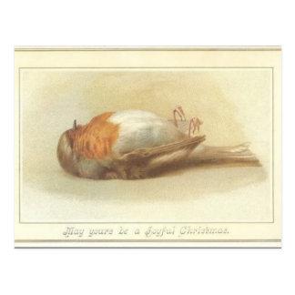 Carte de Noël morte d'oiseau