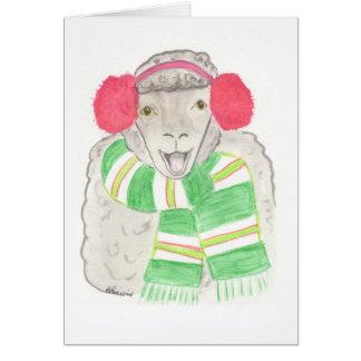 Carte de Noël, mouton