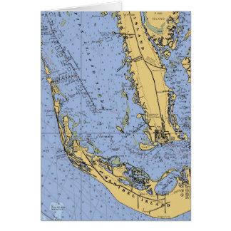 Carte de Noël nautique de diagramme d'île de
