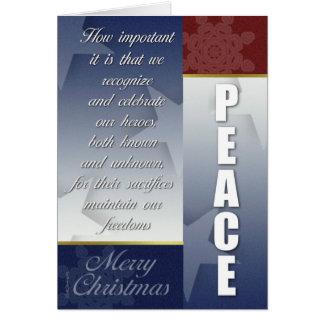 Carte de Noël patriotique avec des flocons de