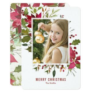 Carte de Noël peinte à la main d'aquarelle de