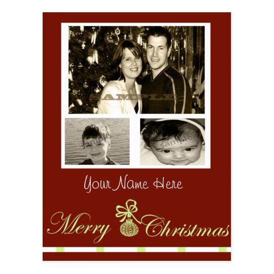 carte de Noël personnalisable de 3 photos… Carte Postale