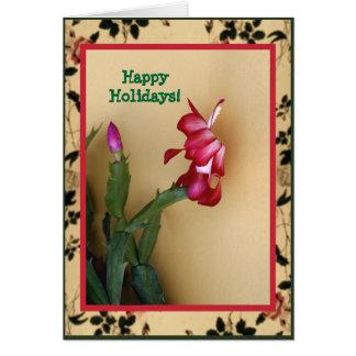 Carte de Noël personnalisable de cactus de Zago