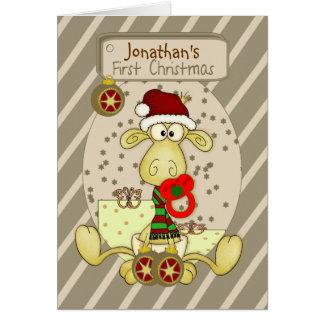 Carte de Noël personnalisée premier par Noël