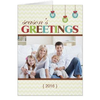Carte de Noël pliée par Chevron de Joyeuses Fêtes