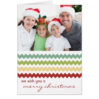 Carte de Noël pliée par fiesta chic de Chevron