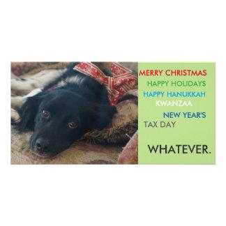 Carte de Noël politiquement correcte de vacances Cartes Avec Photo