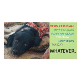 Carte de Noël politiquement correcte de vacances Photocartes Personnalisées