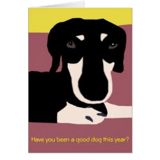 Carte de Noël - pour de bons chiens seulement !