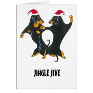 Carte de Noël pour des amants de teckel