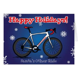 Carte de Noël pour des cyclistes