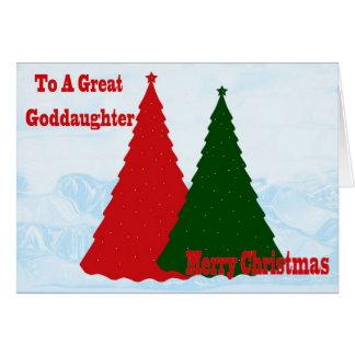 Carte de Noël pour la filleule